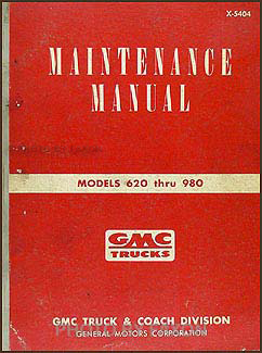1954-1955 GMC Cannonball Repair Shop Manual Original RISS model DFT 923-67