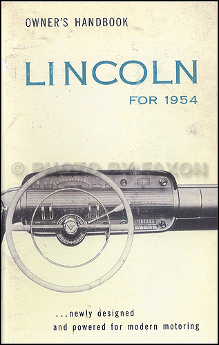 1954 lincoln and capri owner's manual reprint 1958 edsel wiring diagram 1954 lincoln wiring diagram #14