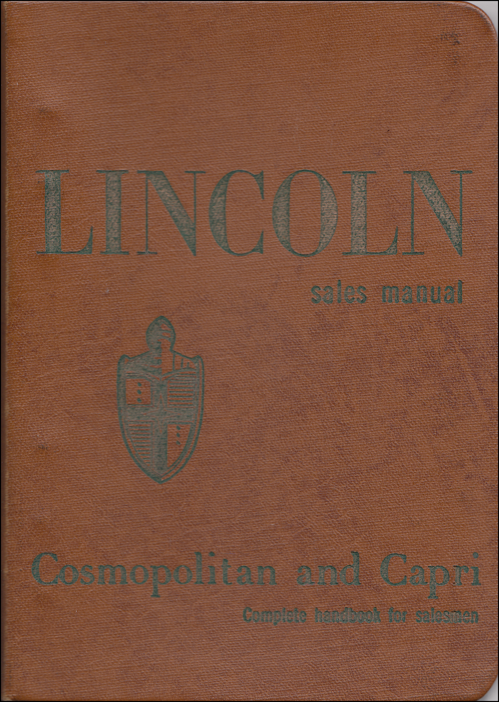 1954 Lincoln Data Book Original