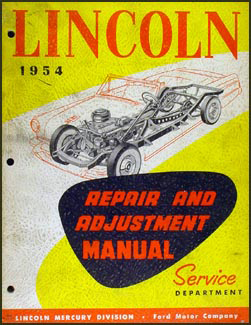 1954 Lincoln Repair Manual Original Cosmopolitan Capri Custom