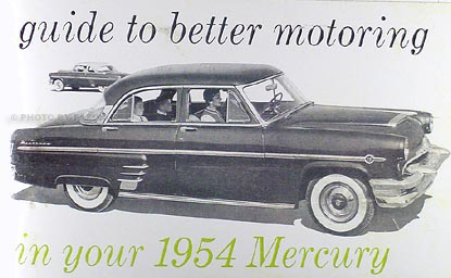 1954 Mercury Owner's Manual Reprint