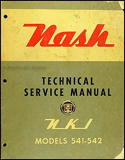 1954 Nash Metropolitan Shop Manual Original