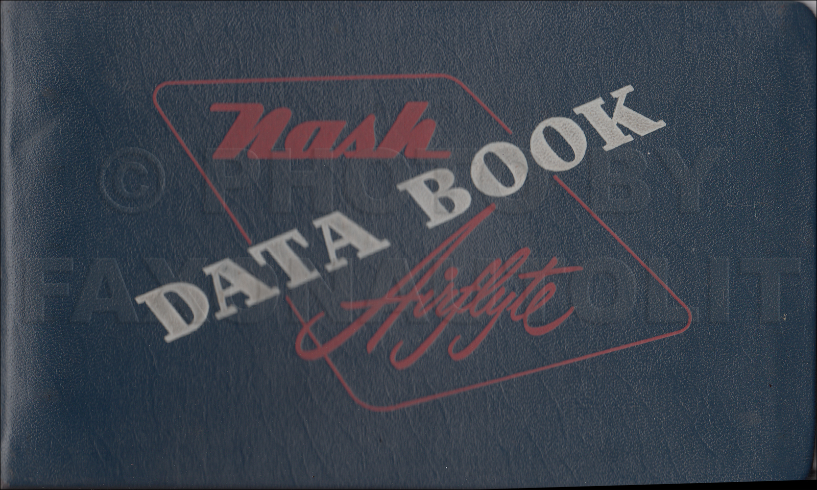 1954 Nash Data Book Original