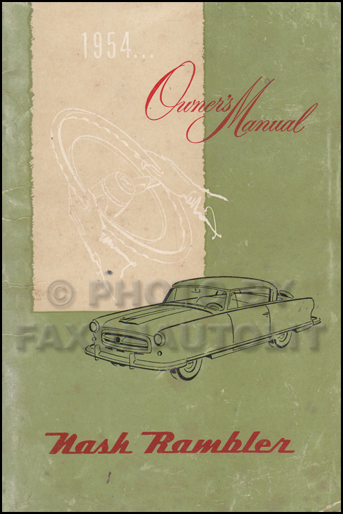1954 Nash Rambler Owner's Manual Original