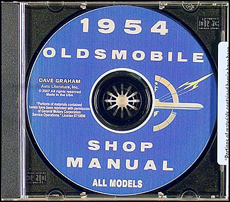 1954 Oldsmobile CD-ROM Shop Manual