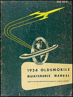 1954 Oldsmobile CANADIAN Repair Manual Original
