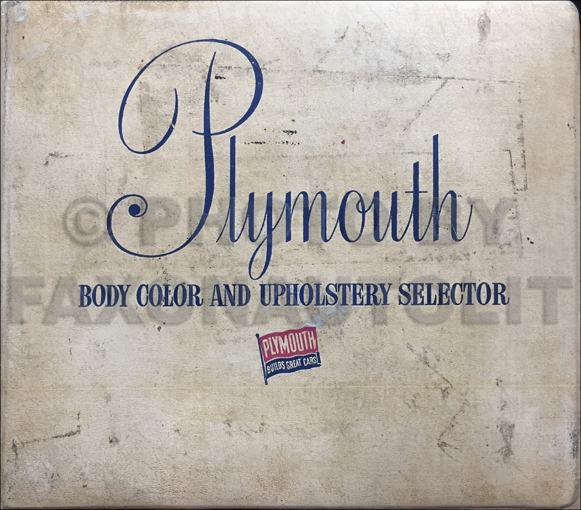 1954 Plymouth Color & Upholstery Dealer Album Original