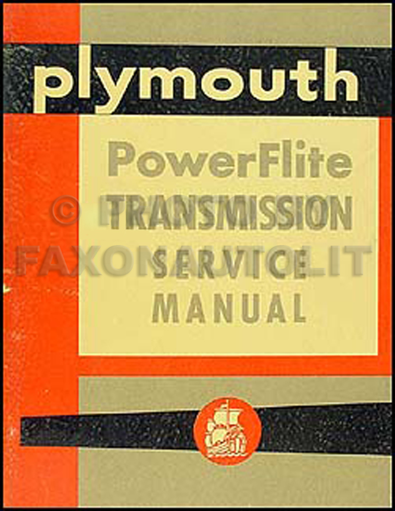 1954 Plymouth PowerFlite Automatic Transmission Shop Manual Original