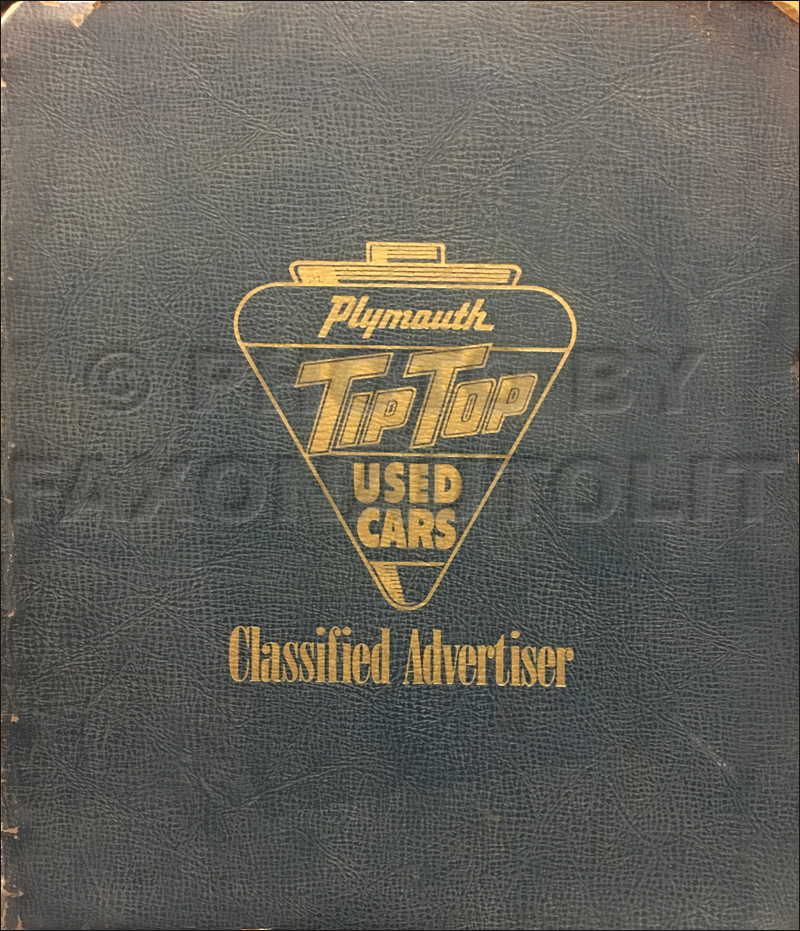 1946-1954 Plymouth Used Car Advertising Dealer Album Original