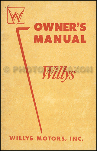 1954 Willys Aero Car Owner's Manual Original Lark Ace Eagle and Eagle Custom with 134 and 161 engines