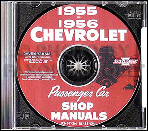 1955-1956 Chevy CD-ROM Shop Manual all cars & Corvette