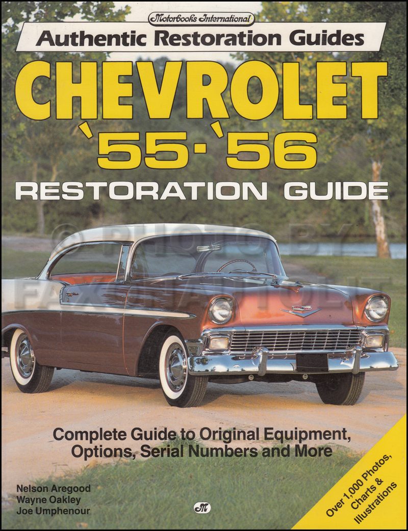 1955-1956 Chevrolet Car Restoration Guide Book