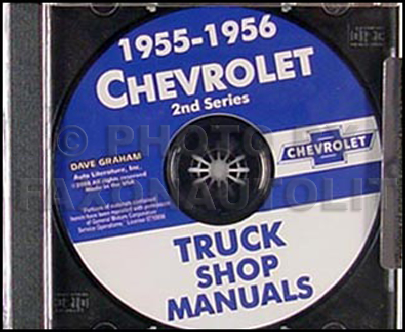 1955-1956 Chevrolet Truck Shop Manual on CD