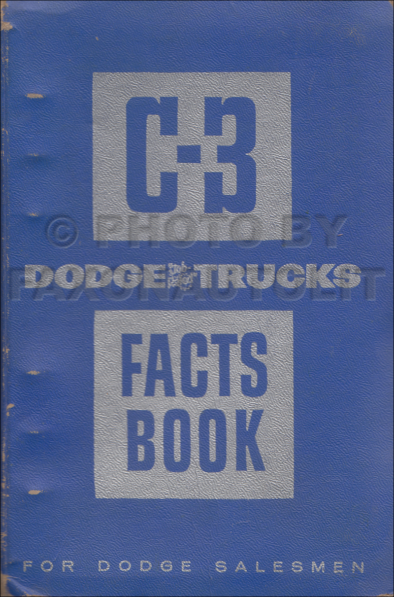 1955-1956 Dodge C-3 Truck Data Book Original