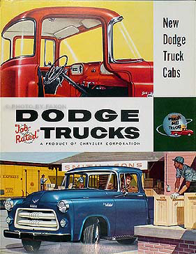 "1955-1956 Dodge C3 Pickup ""New Dodge Truck Cabs"" ORIGINAL Sales Brochure"