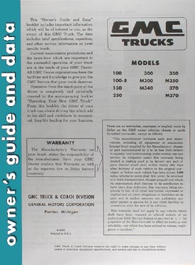 1955-1956 GMC Truck Owners Manual Reprint