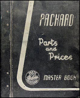 1955-1956 Packard Master Parts Book Original