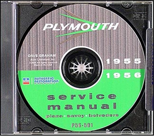 1955-1956 Plymouth Shop Manual on CD