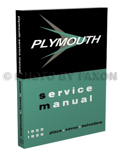 1955-1956 Plymouth Shop Manual Reprint