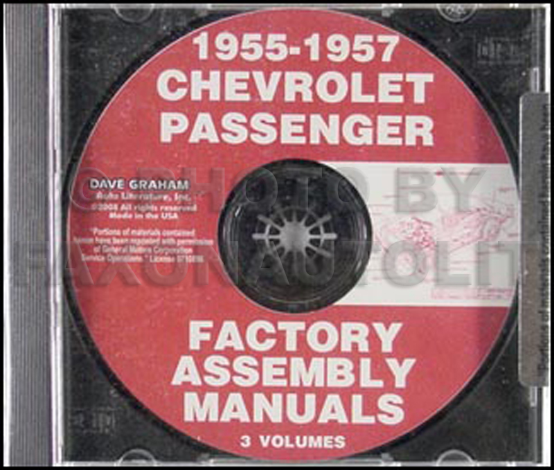 CD 1955-1957 Chevrolet Car Factory Assembly Manual
