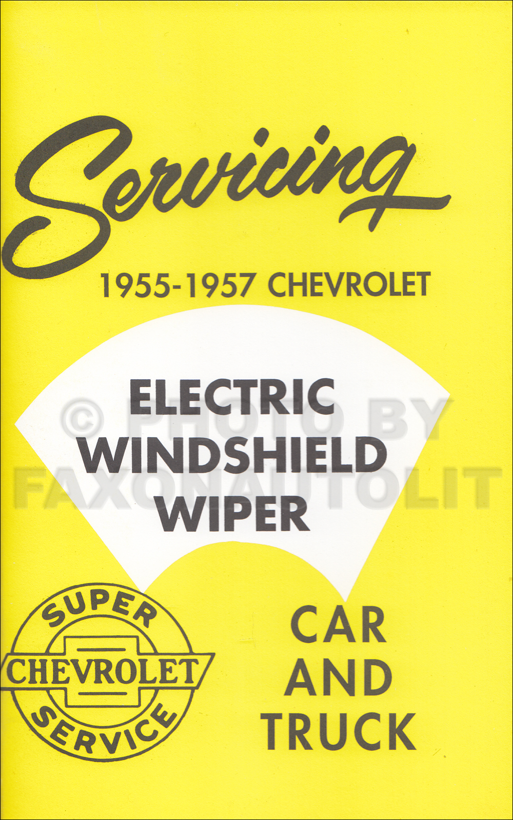 1955-1957 Chevrolet Windshield Wipers Service Training Manual Reprint