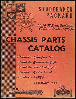 1955-1957 Studebaker & 57 Packard Mechanical Parts Catalog Original