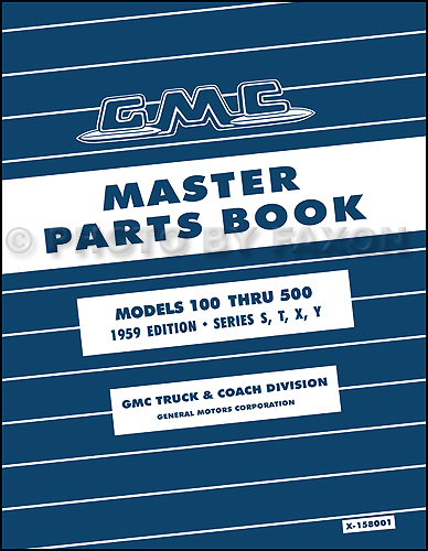 1955-1959 GMC 100-500 Truck Parts Book Reprint