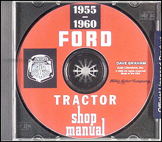 CD 1955-1960 Ford 600 thru 901 series Tractor Shop Manual