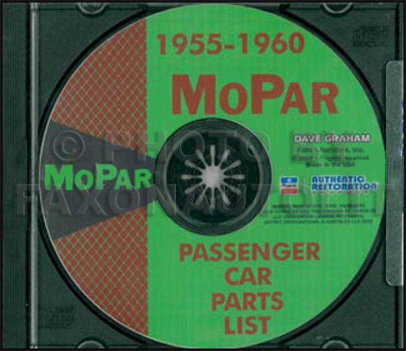 1955-1960 MoPar Parts Books on CD-ROM