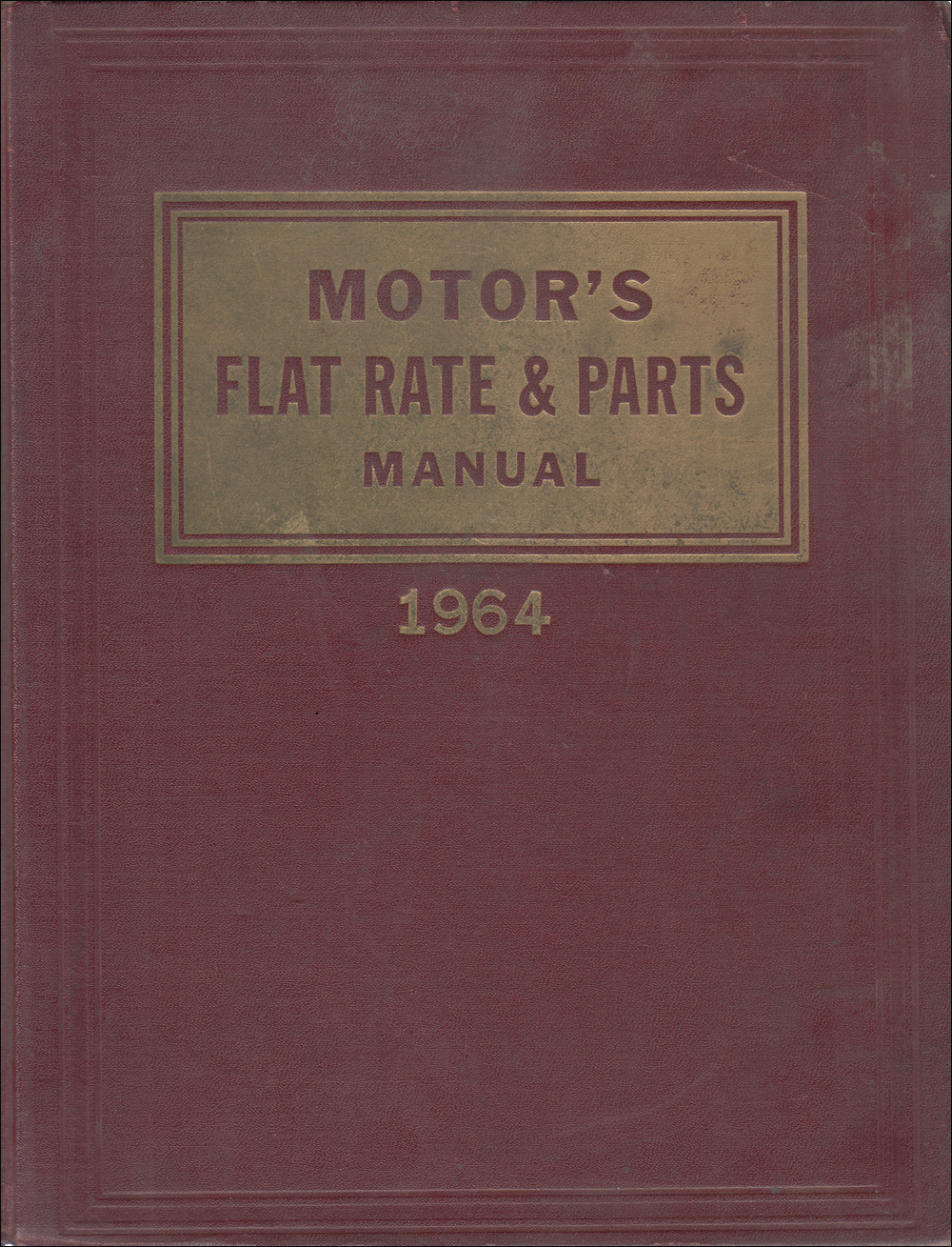 1955-1964 Motors Flat Rate Labor Guide Manual 36th Edition