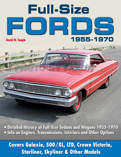 Full-Size Fords 1955-1970 Detailed History Book BW