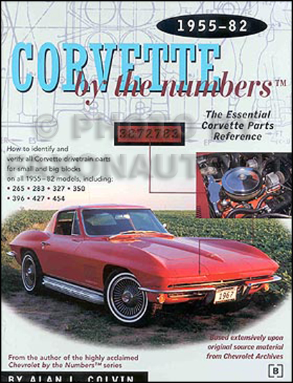 1955-1982 Corvette V8 Numbers I.D. Decoder Book