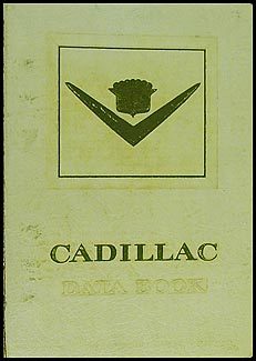 1955 Cadillac Data Book Original