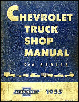 1955 Chevrolet Pickup & Truck Shop Manual Original for 2nd Series