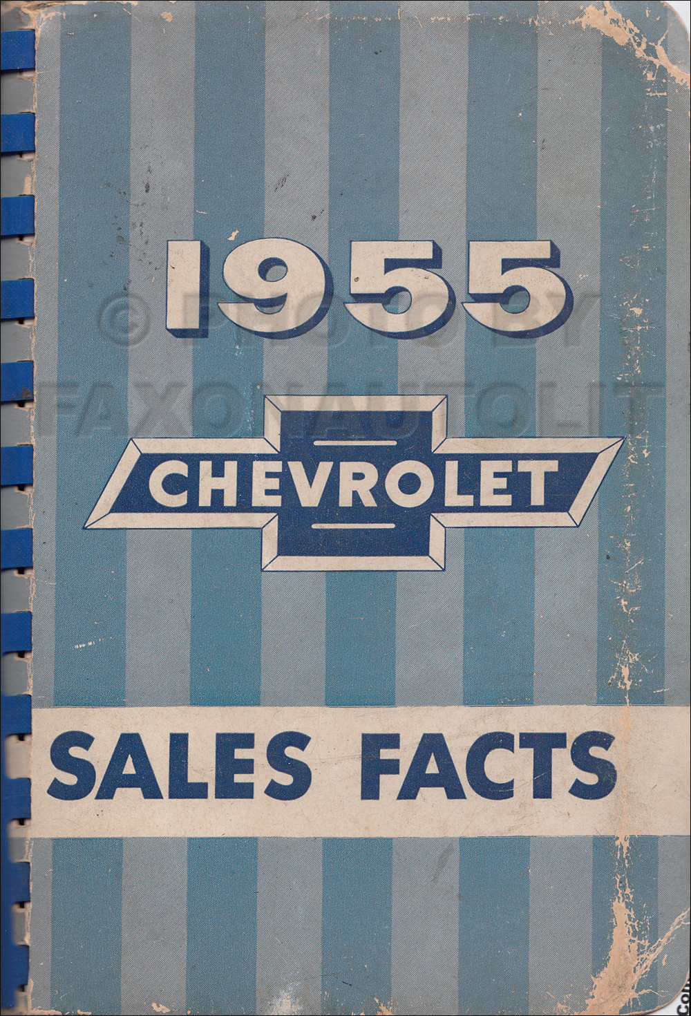 1955 Chevrolet Car Sales Facts Book Original Canadian