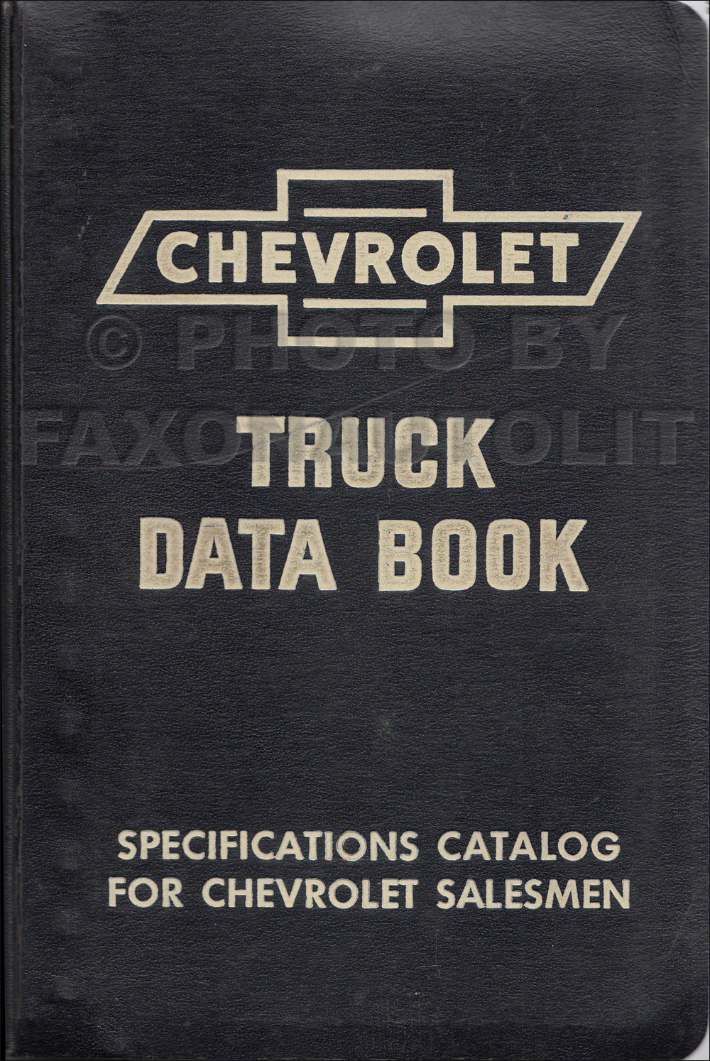 1955 Chevrolet Truck 2nd Series Data Book Original