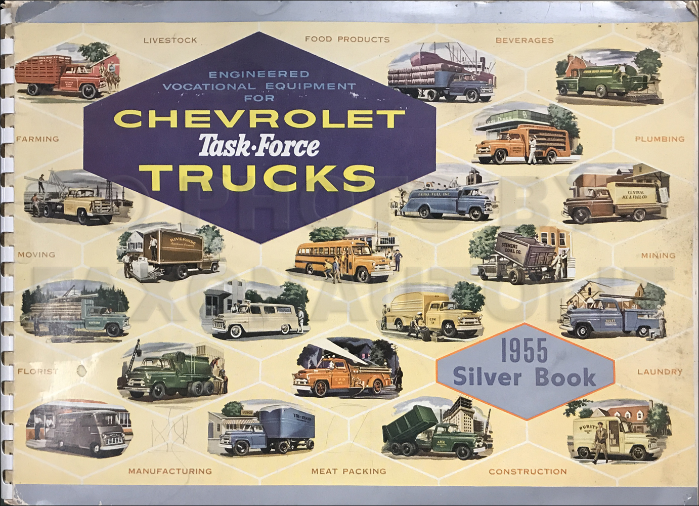 1955 Chevrolet Truck Silver Book Special Equipment Dealer Album
