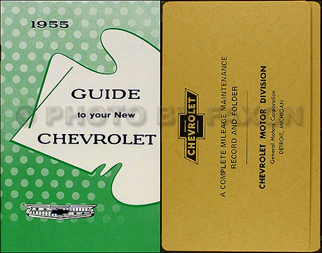 1955 Chevrolet Car Reprint Owner's Manual Package