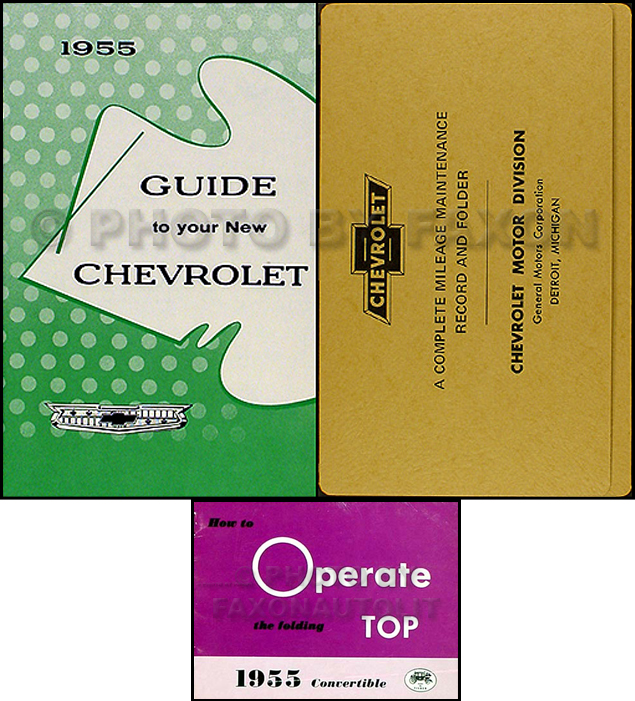 1955 Chevrolet Bel Air Convertible Owner's Manual Set