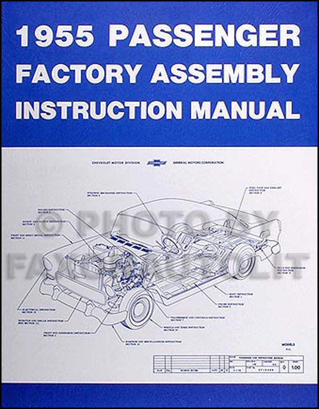 1955 Chevrolet Car Factory Reprint Assembly Manual