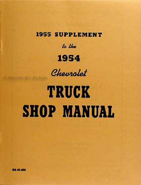1955 Chevrolet 1st Series Pickup Truck Shop Manual Reprint Set