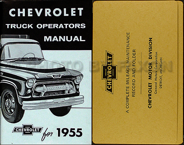 1955 Chevrolet Pickup and Truck 2nd Series Owner Manual Package