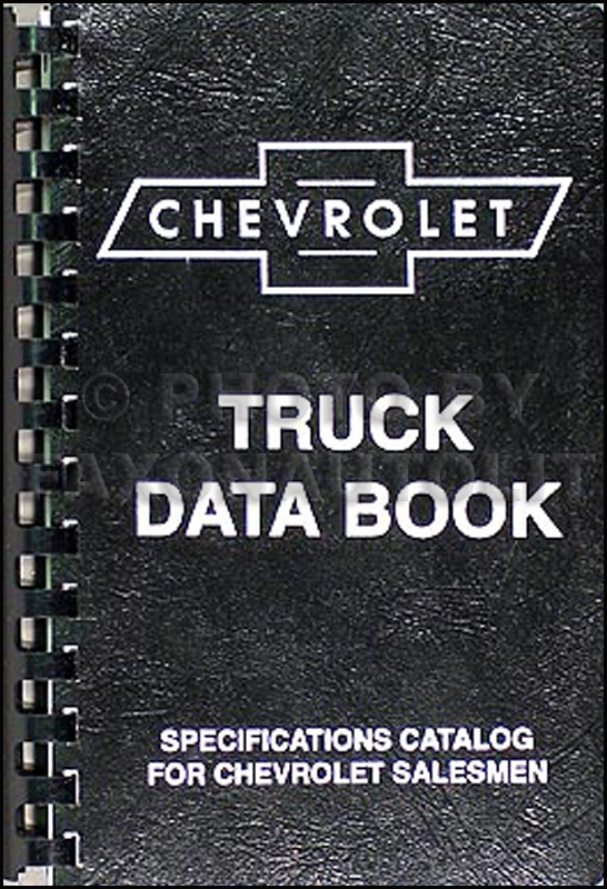 1954-1955 1st Chevrolet Truck Data Book Reprint