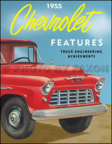 1955 Chevrolet Truck Engineering Features Manual Reprint Second Series