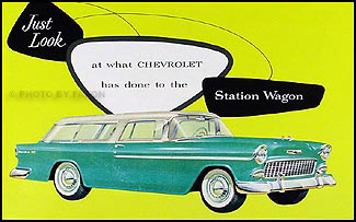 1955 Chevrolet Station Wagon Color Sales Folder Reprint