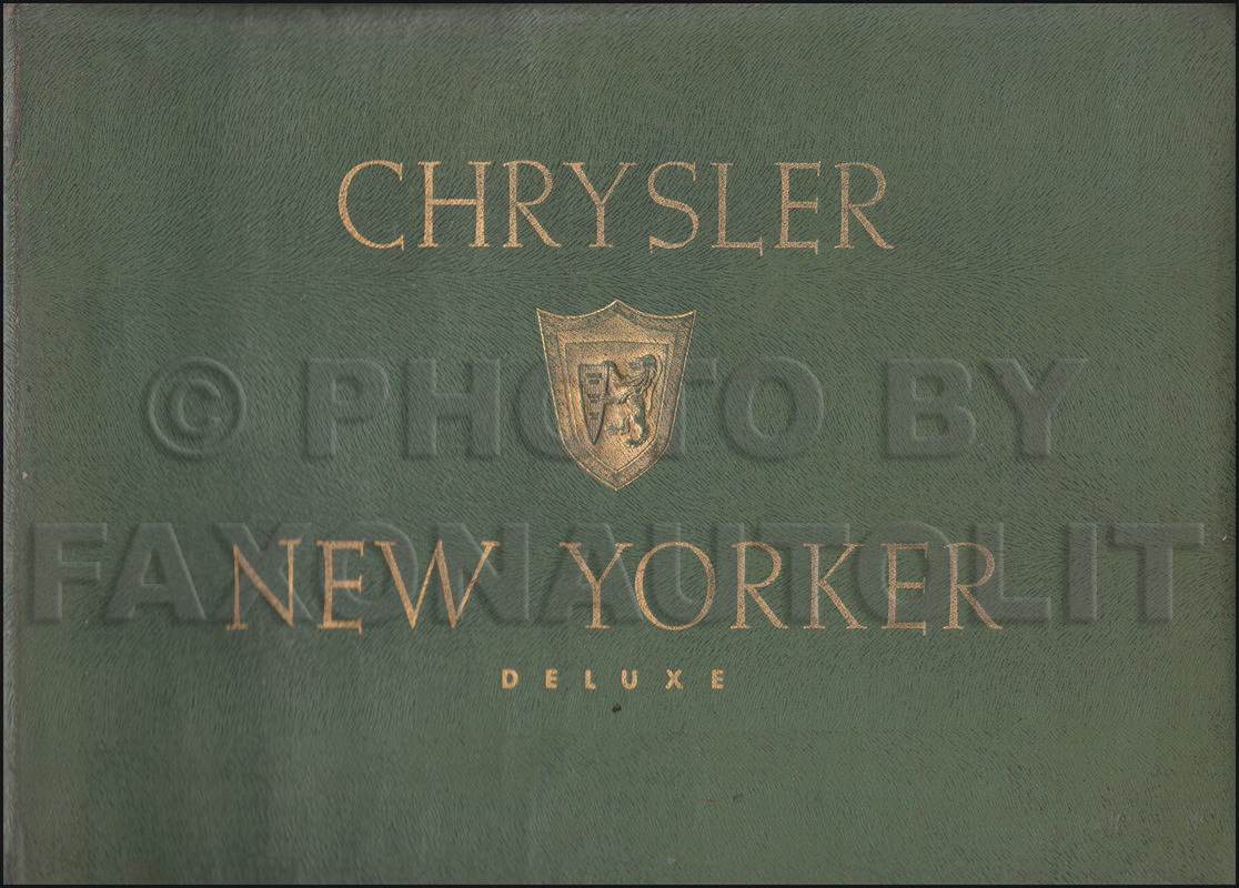 1955 Chrysler New Yorker Color & Upholstery Dealer Album Original