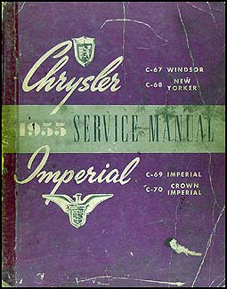 1955 Chrysler Shop Manual Original Windsor New Yorker Imperial