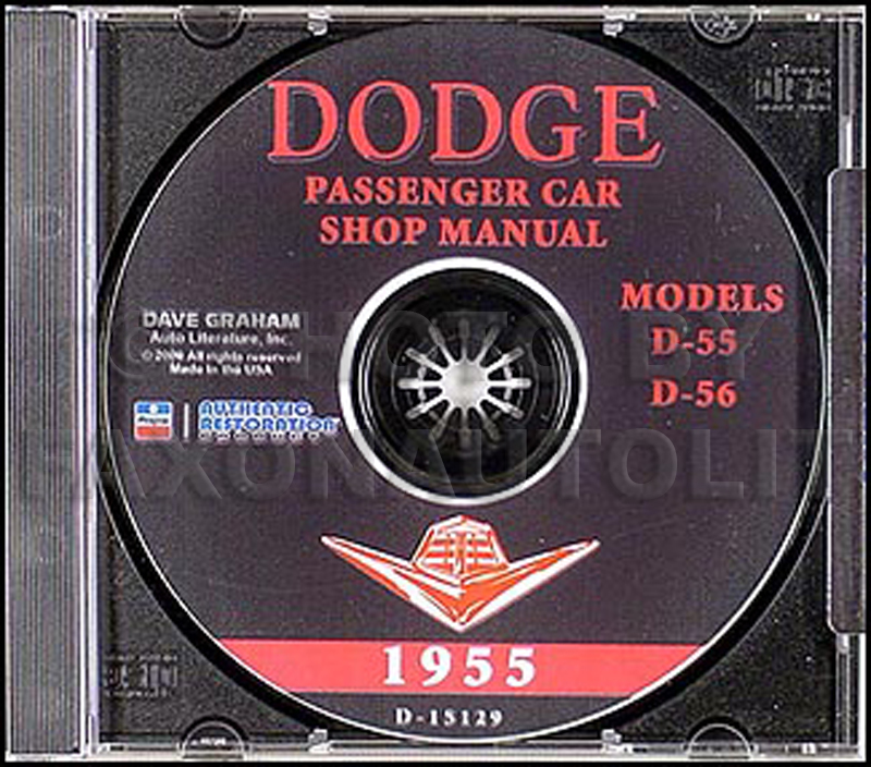 1955 Dodge Car Shop Manual on CD-ROM 55