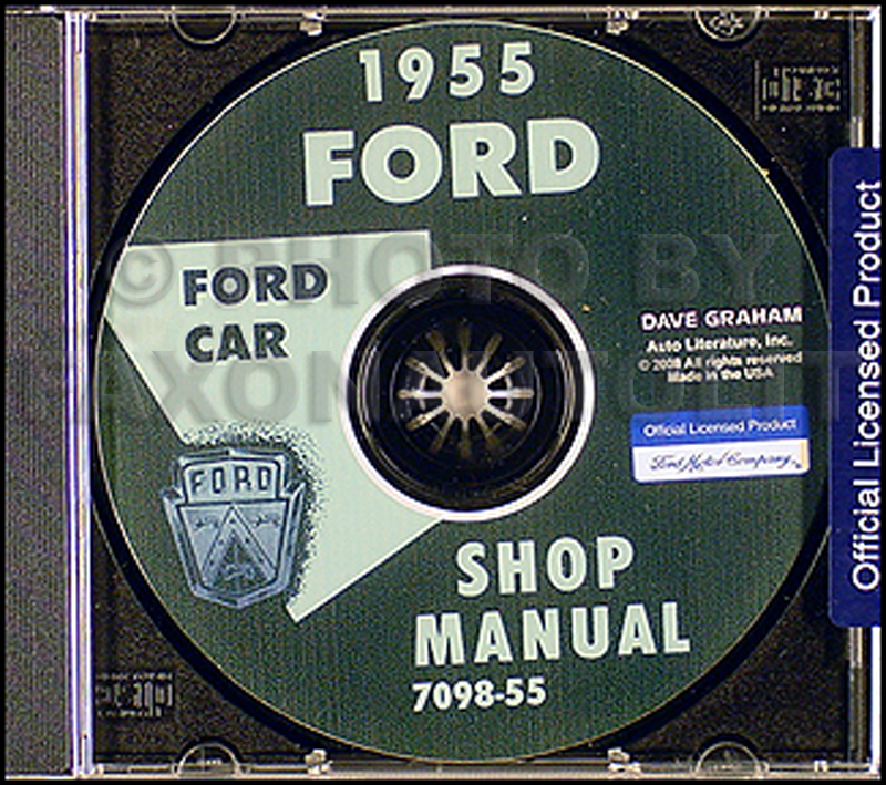 1955 Ford Car & Thunderbird CD-ROM Shop Manual