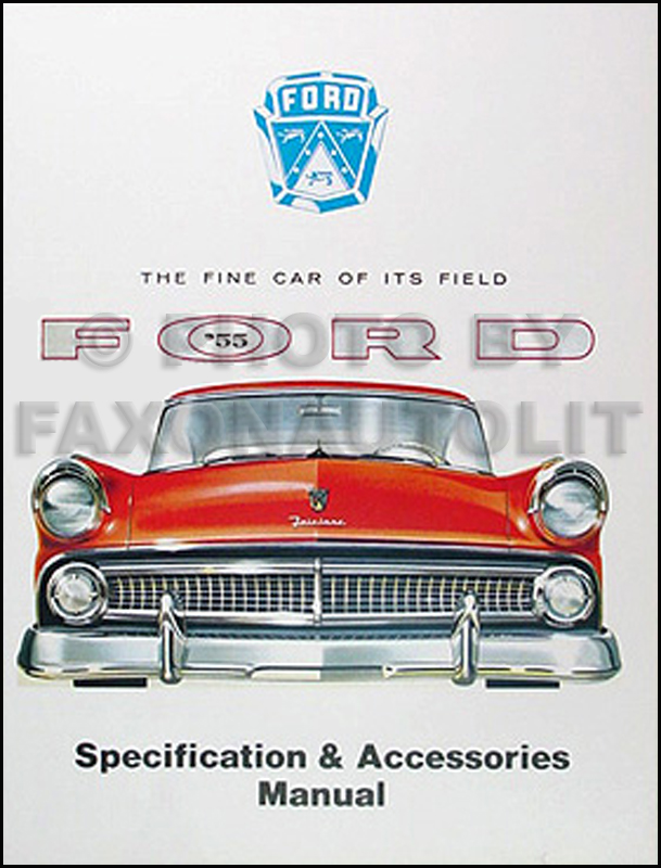 1955 Ford Car Accessories Options Specifications Manual 55 Reprint